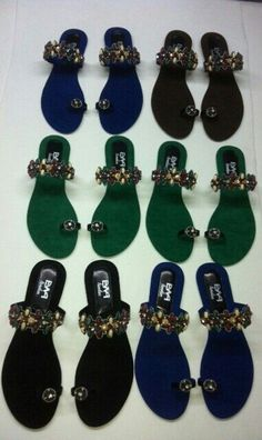 Collection of beaded sandals available to shop at: http://www.afrikrea.com/en/shops/missy-ewa-london-143