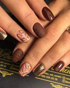 Best Fall Nail Designs To Make You Charming * 2019 - SelectedIns : [ Bes. - Best Fall Nail Designs To Make You Charming * 2019 – SelectedIns : [ Best Fall Nails Desi - Thanksgiving Nail Designs, Thanksgiving Nails, Thanksgiving Ideas, Christmas Ideas, Nail Manicure, Manicures, Gel Nails, Acrylic Nails, Fall Nail Art Designs