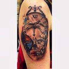 #tahiryıldırım #tattoo #colorstattoo #vsco #vscocam #tattoodesign #normanduenas #bodyart #illustration #skull #skulltattoo #vscoinked #vscotattoos @inkjunkeyzmag