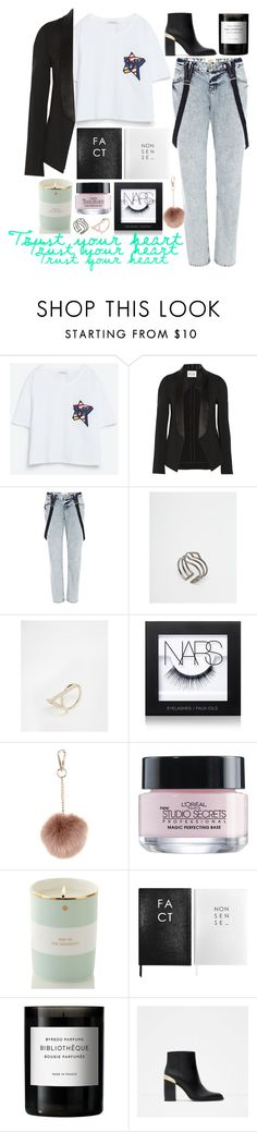 """""""trust your heart."""" by bluveraa ❤ liked on Polyvore featuring Zara, MiH Jeans, River Island, Pilgrim, Lipsy, NARS Cosmetics, Accessorize, L'Oréal Paris, Kate Spade and Sloane Stationery"""