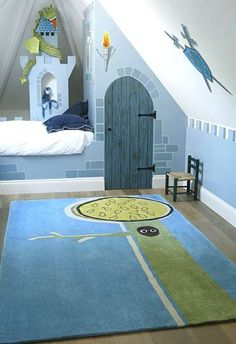 fairytale room for a boy. you don't see that much.