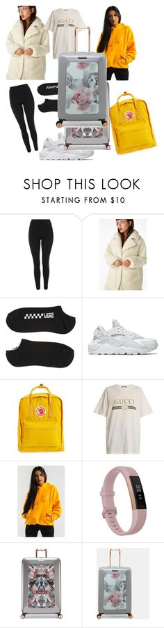 """Plane with immy"" by joliebarnes1 on Polyvore featuring Topshop, Monki, Vans, NIKE, Fjällräven, Gucci, Fitbit and Ted Baker"