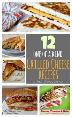 12 UNIQUE Grilled Cheese Sandwiches