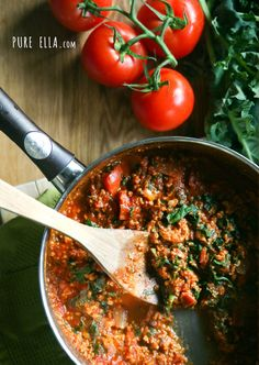 Best Ever Meaty (but meatless) Spaghetti Sauce...Vegan