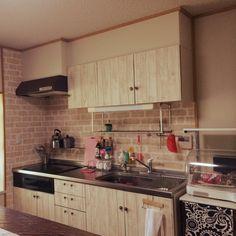 セリア/DIY/賃貸/団地 DIY キッチンのインテリア実例 - 2014-07-29 09:01:20 | RoomClip(ルームクリップ)