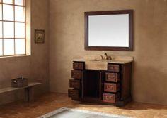 "Toscano 48"" Single Vanity, Cherry Finish - Classics Vanities - Bathroom - Products"