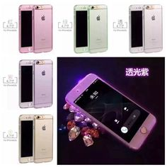 For iPhone 6 6S Case Luxury 360 Degree Hard PC LED IC Cellphone Flash Protective Cover For iPhone 6 plus 6S Plus 5g 5s SE Coque