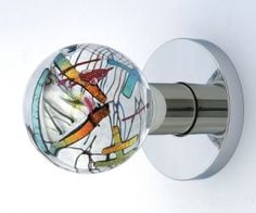 Stained glass doorknob--beautiful!