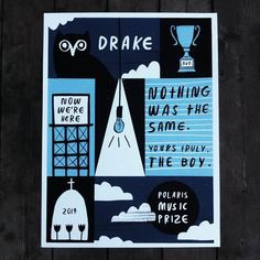 Nothing Was The Same  Polaris Music Prize Poster by DEADWEIGHT, an Etsy shop based in Toronto, Canada. Poster to honour the Polaris Music Prize short list nomination for best album of the year: Nothing Was The Same by Drake. THE BOY.