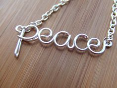 peace wire necklace