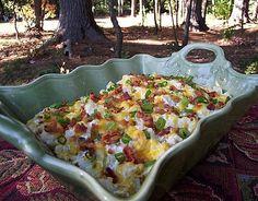 Loaded Baked Cauliflower Casserole-thank you Rebecca @ Diva di Cucina!