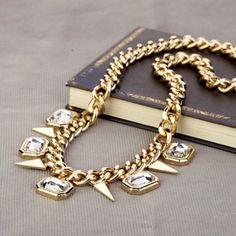 Bohemian spikey necklace.