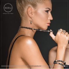 Black and silver are the new collection 2017 by indimaj jewelry. Silver 925 with 14K Gold arabesque beads & black lava beads. Love 💕💕💕💕💕the new great fashion look!