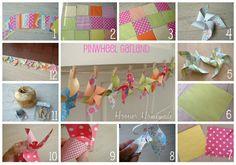 Pinwheel Garland collage
