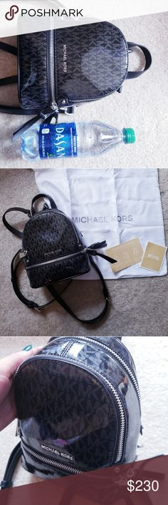 ed7121307ca4 Glossy black Michael Kors mini backpack purse bag Shipped same day Michael  Kors Bags Shoulder Bags