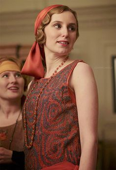 Flapper Edith! This is her season to go wild..Downton Abbey
