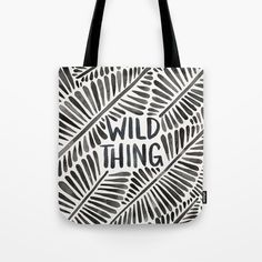 Wild Thing – Black Palette Tote Bag by catcoq | Society6