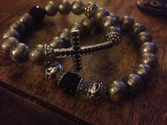 Stackable cross bracelet