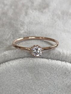 Mothers Day Ring Rose Gold Ring Valentines Ring Promise Ring Anniversary Ring Delicate Diamond Ring Birthstone Ring - Hello I am trying to creat the engagement wedding bride promise birthstone rings as well as gem - Wedding Rings Simple, Wedding Rings Rose Gold, Wedding Jewelry, Gold Jewelry, Bridal Rings, Gold Earrings, Rose Wedding, Trendy Wedding, Jewellery Maker