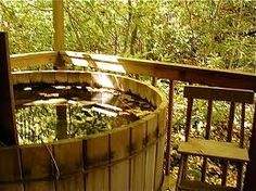 Ofuro Japanese Soaking Hot Tub  Person Wooden Tub Pool Spa - Outdoor japanese soaking tub