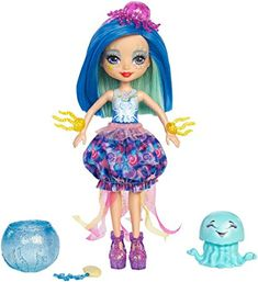 Check out the Enchantimals Jessa Jellyfish Doll & Marisa Water Animal Figure at the official Mattel Shop website. Explore the world of Enchantimals today! Barbie Dolls Diy, Diy Doll, Mattel Dolls, Girl Dolls, Mattel Shop, Hedgehog Pet, Hedgehog Cage, Fairy Figurines, Toys For Girls