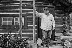 the infamous mike ramsey at spring creek park cow camp, wind river mountains, wyoming