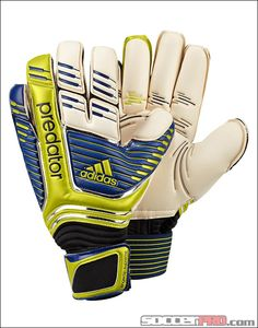 adidas Predator Fingertip Supreme - White with Bright Blue and Lab Lime...$103.49