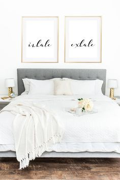 Need some inspiration for your bedroom? Here is a roundup of 12 great ideas for DIY projects, prints, and more that you can use to decorate above your bed!