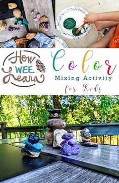 Such a fun color mixing activity for kids! They can learn all about tints, hues & shades as well as balancing & fine motor. Steam Learning, Play Based Learning, Learning Through Play, Fun Learning, Educational Activities For Preschoolers, Creative Activities For Kids, Preschool Art, Toddler Science Experiments, Science Projects