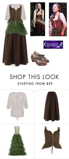 """""""Ella"""" by rebellious-ingenue ❤ liked on Polyvore featuring Kaliko, Isa Arfen, Naeem Khan, Yves Saint Laurent, Restricted, cinderella, broadway, musical and LauraOsnes"""