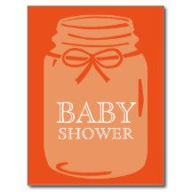 Any Color Mason Jar Baby Shower Postcard