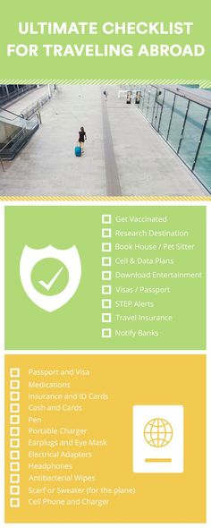 To save you some prep time, I've compiled this international travel checklist for your next long-distance journey when traveling abroad. Airline Travel, Travel Abroad, Travel Tips, Travel Ideas, International Travel Checklist, Travel Necessities, Data Plan, Long Distance, Travel Inspiration