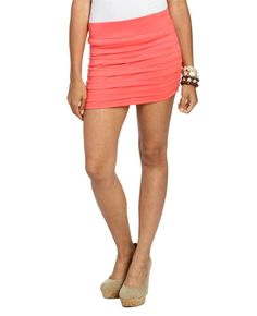 Pleated Bodycon Mini Skirt from WetSeal.com