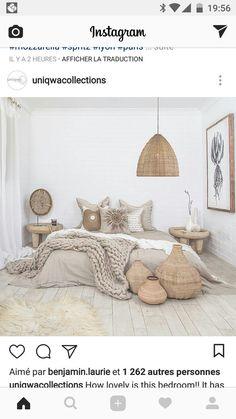 35 Amazingly Pretty Shabby Chic Bedroom Design and Decor Ideas - The Trending House Boho Bedroom Decor, Bedroom Vintage, Bedroom Inspo, Home Bedroom, Living Room Decor, 1920s Bedroom, Bedrooms, Modern Bedroom, Bedroom Styles