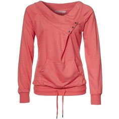Only VILMA - Sweatshirt - spiced coral - Zalando.de ($130) ❤ liked on Polyvore featuring tops, hoodies, sweatshirts, shirts, sweaters, blusas, sweatshirt, red sweatshirt, red shirt and coral shirt