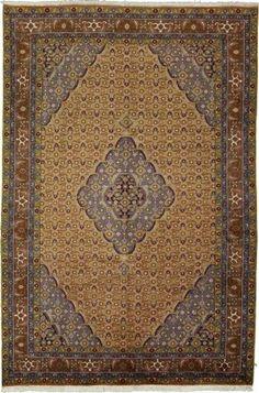 6' 6 x 9' 8 Bidjar Brown Area Rug  Beautiful rug from Iran in the Bidjar design. Contains colors: Brown, Blue, Ivory, Navy Blue, Olive, Orange, Green, Light Brown