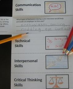 Job Skills Folded Paper Project Activity
