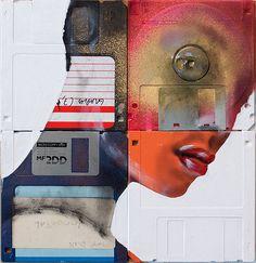 Floppy Disk Portaits Artwork