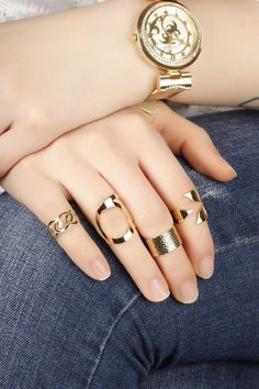 Knuckle Rings-Finger Ring-Midi Ring-Mid Ring-Gold Wrap Ring-Stackable Knuckle-Gold Stack Ring-Simple Tiny Toe Rings-Elegant Gold Ring Set