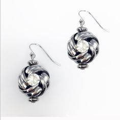 """Adia Kibur """"knot and crystal"""" earrings Stunning pair of earrings that will be sure to turn heads.                                                                   MaterialContent: Metal alloy and crystal.              Perfect for every occasion! Adia Kibur Jewelry Earrings"""