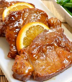 Fried pork chops with orange molasses marinade.This is very delicious and easy recipe.