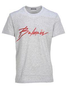bf497b521 Balmain x H&M: Balmain Tee Shirt ❤ liked on Polyvore featuring tops ...
