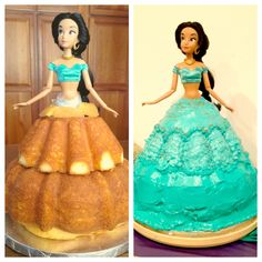 My brothers mother in law made this cake for my neice last night. How to make a Jasmine cake. Aladdin Birthday Party, Aladdin Party, Barbie Birthday, Aladdin Cake, Birthday Parties, Princess Jasmine Cake, Disney Princess Party, Princess Birthday, Princess Cakes