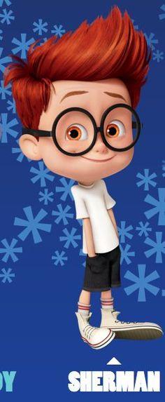 Sherman, Mr. Peabody & Sherman-brown hair -brown eyes- it's Hayden's long lost doppleganger!