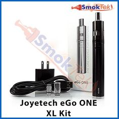 """Joyetech eGo ONE XL Kit - 2200 mAh - Black - The Joyetech eGo ONE XL Kit is the ultimate starter kit for beginners, and a great option for any vaper looking for a small, discreet and portable device for on the go! What makes the eGo ONE special is that it offers two types of changeable coil heads to cater to your personal preference; the eGo ONE CL coils offer different vaping experiences, making the eGo ONE """"the one device for everyone""""."""