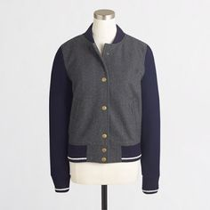 Brand New J Crew Letterman Jacket Brand new never been worn size XS J. Crew Jackets & Coats