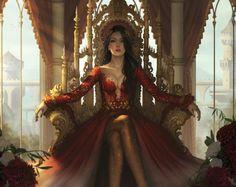 Betria blood - rainha do exército dos demônios petrificados- terceira bruxa a ser pega e presa no abismo de Elik