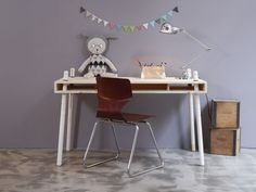 Caspar Desk by Perludi in all natural wood - this desk grows with your kids, from toddler to teen! Available here www.e-side.co.uk