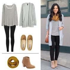 Cute Outfit for relaxing or going out!  Love how simply changing the accessories and shoes changes what you can wear the same basic outfit for.