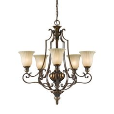 Kelham Hall Firenze Gold Chandelier easily blends with your home's existing decor. This firenze gold India scavo glass shade fixture combines function and style. This chandelier is supplied with a 60 in. Bronze Chandelier, 5 Light Chandelier, Candle Chandelier, Chandelier Shades, Hall Lighting, Kitchen Lighting, Lighting Ideas, Wall Lights, Ceiling Lights